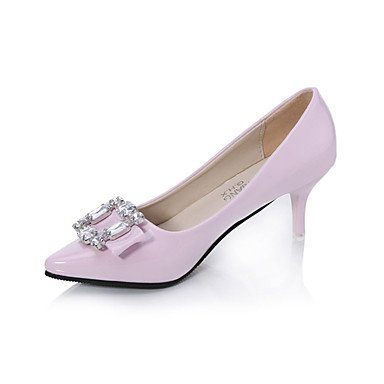 Tacón cms Confort 9'5 gray Gris Stiletto Verano Sandalias Mujer Confort 7'5 Morado Rosa PU LvYuan Negro wqRBYHF6