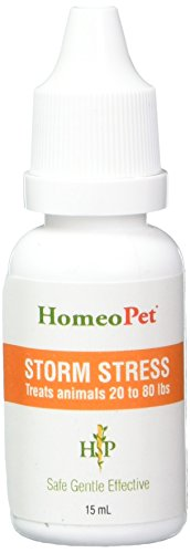 Storm Stress K-9 Treats animals 20 to 80lbs (15ml) min.450 drops
