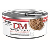 Select Diet - Purina Dm Savory Selects Dietetic Management Cat Food 24 5.5 oz Cans