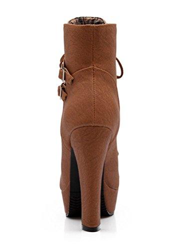 Femme Bottines Bottes Minetom Automne Boots Cheville Martin Hiver 1wCTOxqO