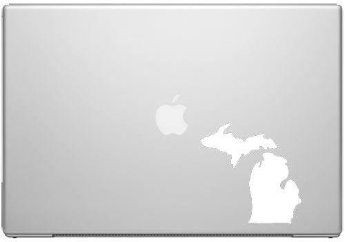 Michigan Great Lakes State Wolverine Spartan Pride Decal Sticker - White 5