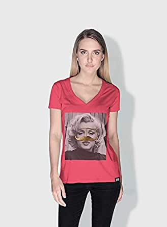 Creo Marilyn Monroe 3Araby T-Shirts For Women - Xl, Pink