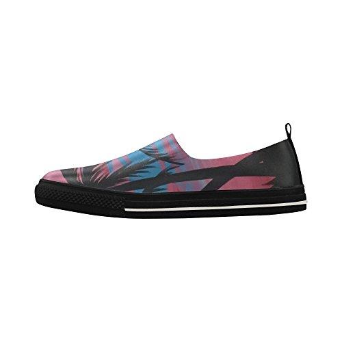 D-historien Tilpasset Palme Slip-on Microfiber Menns Sko Sneaker