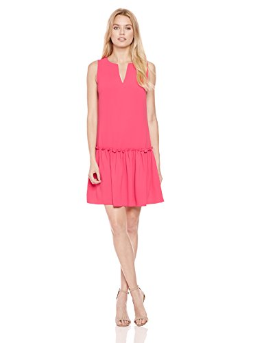 Trina Turk Women's Yarrow Drop Waist Dress, Soiree Pink, 8