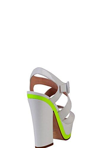 Femmes Sandales Miu De En Blanc Cuir Sandales En Pour 239017612237 wPBFx0q