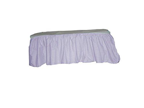 Baby Doll Gingham/Eyelet Patchwork Crib Skirt/Crib Dust Ruffle, Lavender