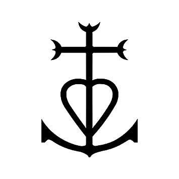 Sticker logo Croix de camargue Adhésif Autocollant - Plusieurs coloris - 10 1da419a6133