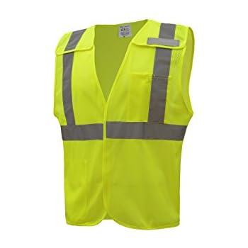 9069c87b6db9 CJ Safety CJHVSV2002 ANSI Class 2 High Visibility 5-Points Breakaway Safety  Vest Polyester Mesh (Large
