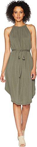 Lucky Brand Women's Halter Neck Dress in Olive XL ()