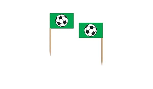 50 palillos de queso aperitivo, diseño de cupcakes de balón de fútbol deportes Soccerball: Amazon.es: Hogar