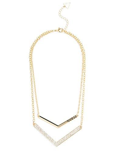 GUESS Women's Gold-Tone Double Chevron Necklace