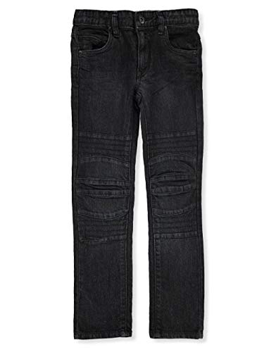 (DKNY Boys' Little Denim Jean (More Styles Available), Wooster Olive Dye Black, 5)