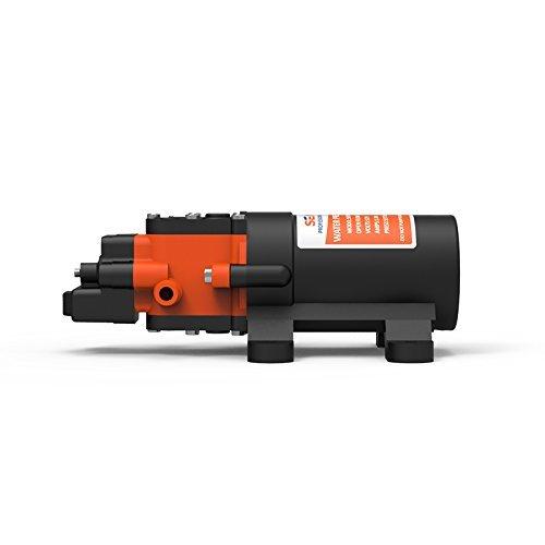 SEAFLO 12V DC 1.2 GPM 35 PSI 21-Series Diaphragm Water Pressure Pump for Marine Boat RV Caravan