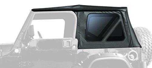 Hardware Soft Top (RAMPAGE PRODUCTS 68735 Complete Soft Top Frame & Hardware 1997-2006 Jeep Wrangler TJ Full Steel Doors (no soft upper doors), Black Diamond)