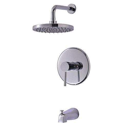 shower bath faucet combo. Enzo Rodi ERF8250285CP B 10 Modern Style Single Handle Tub  Shower Combo Faucet with Pressure Balance Valve Head and Spout Polished Chrome Bathtub Faucets Amazon com