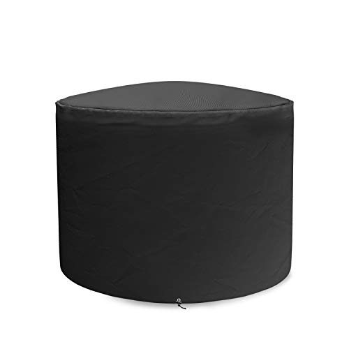 SHINESTAR Fire Pit Cover for Solo Stove Bonfire 19.5 Inch Fire Pit, Round Cover Heavy Duty Waterproof Material for SSBON Bonfire Fire Pit, Black (Fire Pit Material Best)