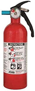 """Fire Extinguisher, 5B:C, Dry Chemical, 2 lb, 11""""H"""