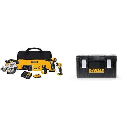 DEWALT DCK423D2 20V MAX 4-Tool Combo Kit with DWST08203H Tough System Case, Large