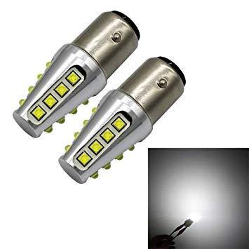 Uniqus 2 PCS 1157 BAY15D 80W 800LM Auto Car Turn Lights 16 LED Bulbs Brake Light, DC 12-24V