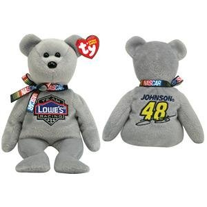 Amazon.com  Ty Beanie Babies - Nascar Team Lowe s Racing Jimmie ... 4d6b10a2f8d
