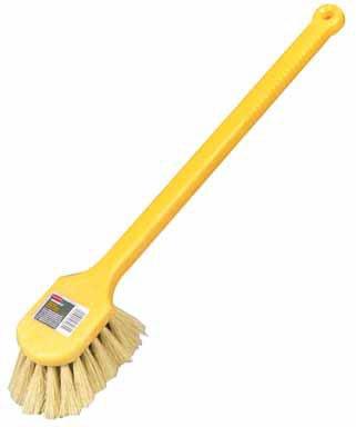 - Rubbermaid Long-Handled Tampico Scrub Brush