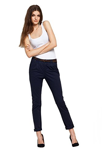 Vero Moda - Pantalón chino para mujer azul marino