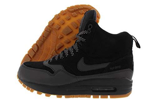 Nike Women's Air Max 1 Mid Sneakerboot (6.5) Black