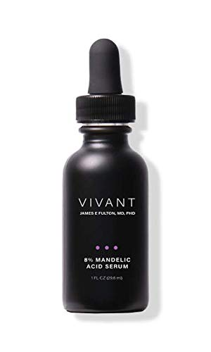 Vivant Skin Care's 8% Mandelic Acid 3-in-1 Serum - an ANTI-ACNE, ANTI AGING and BRIGHTENING serum on the market for sensitive skin and skin of color. - 1 Fl Oz
