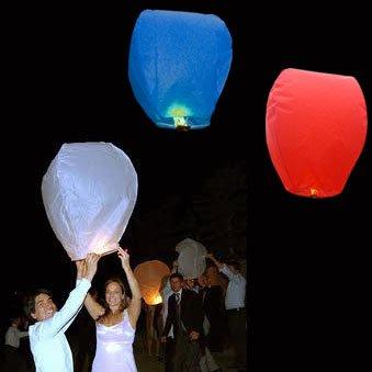 Red, White & Blue Eco Wishlantern (15 Pack) (Large For Sale Lanterns)