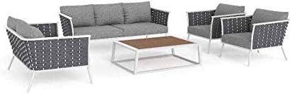ARTELIA Ariel - Conjunto de muebles de jardín de aluminio para jardín, terraza y jardín de invierno, muebles de terraza premium: Amazon.es: Jardín