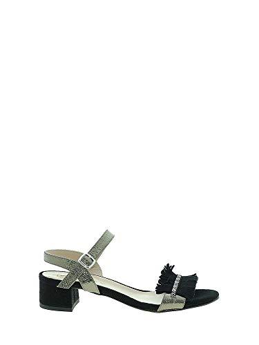 Sandalo 6196 Tacco 41 Nero Donna Mally qv5wpzw