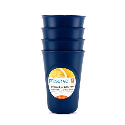 Everyday Cup, Midnight Blue 16 oz by Preserve (Pack of 3)