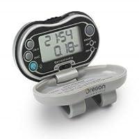 Oregon Scientific PE326CA Podómetro con contador de calorías, reloj digital de 12 horas, retroiluminación HiGlo, medidas de distancia recorrida y calorías quemadas, contador de pasos, pantalla LCD