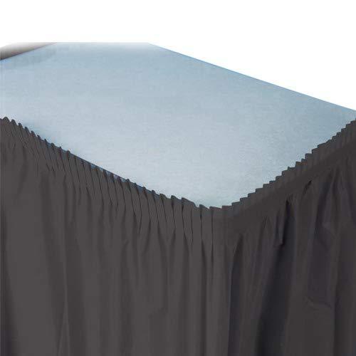 Creative Converting Easy-Stick Table Skirt Black Velvet, Plastic, 21.5' Length x 29