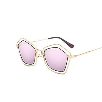 be220f6a8a tocoss (TM) nueva Pentágono gafas de sol mujer funda UV400 gafas de sol de