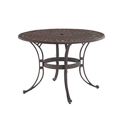 Amazoncom Home Styles Biscayne Round Outdoor Dining Table - 30 inch round outdoor table