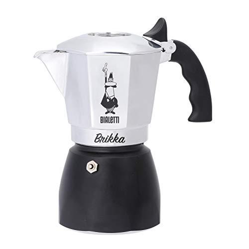 Bialetti : Brikka Stovetop Espresso Maker 4 Cup - Black ()