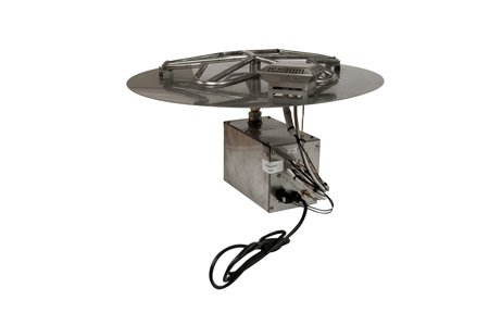 Electronic Burners (PENTA24HWI 24in Flat Pan with Penta Burner Complete Electronic Ignition Firepit Insert)