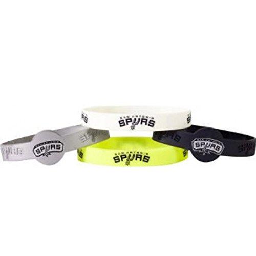 aminco NBA San Antonio Spurs NBA-BC-283-20 Bracelets (4 Pack), One Size, Team Colors