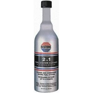 Restore 50016 2 in 1 Fuel System Cleaner Plus Octane Booster, 16 Fluid Ounce Bottle
