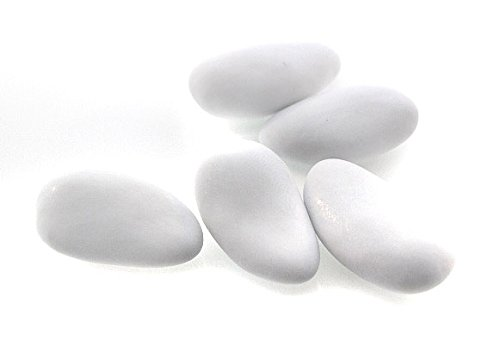 - Dragees Pecou, Thin Shelled French Almond Dragees - White (1 Lbs)