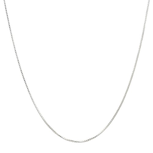 """925 Sterling Silver .8MM Box Chain Italian Crafted Necklace Super Thin & Strong FREE Gift w/Order 16"""" 30"""""""