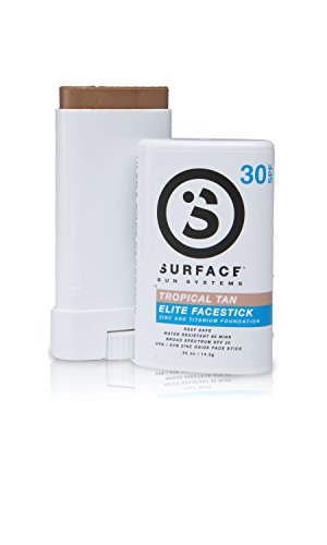 Natural SPF 30 Mineral Based Face Stick Sunscreen by Surface (Tropical Tan)