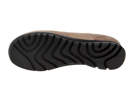 Calzado mujer confort de piel Piesanto 6525 deportivo cómodo ancho Café