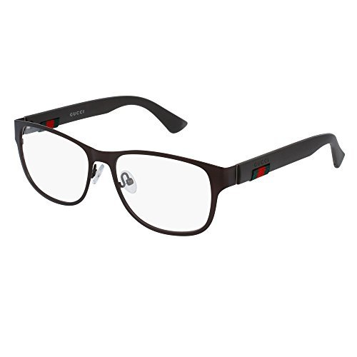 Gucci GG 0013O 004 Brown Metal Square Eyeglasses 55mm