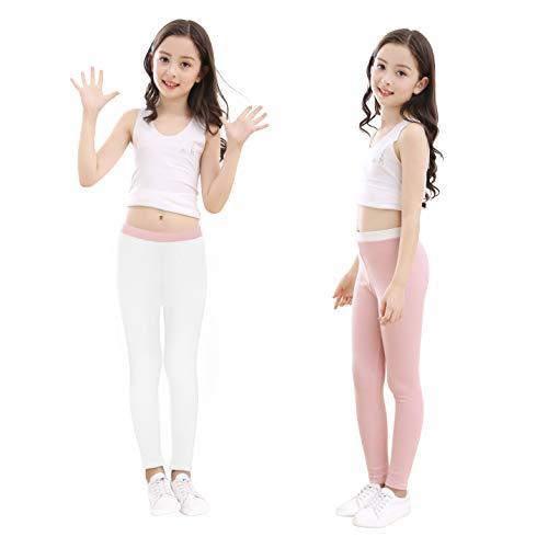 slaixiu Cotton Ankle Length Girls Leggings Stretchy Kids Pants ()