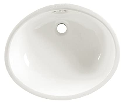 American Standard 0497.221.020 Ovalyn 19 Inch Basin Undercounter Sink With  Front Overflow,