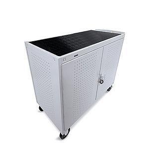 Bretford LAP30ERBFR-GM Welded Laptop Storage Cart - Steel - - Storage Bretford Computer Cart Laptop