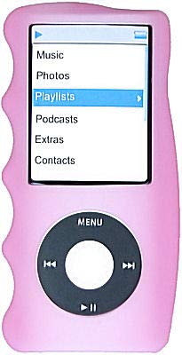 HD Accessory Hand Grip Silicone Sleeve for 4th Generation iPod Nano (Pink)