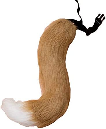Cute Faux Fur Tail Furry Wolf Dog Fox Puppy Costume Halloween Cosplay Props